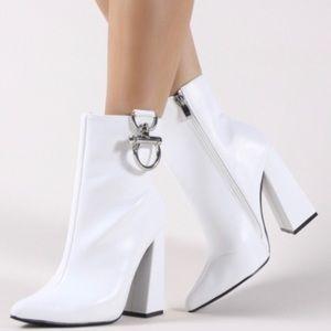 Public desire white booties